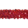 Sequin Stretch 3-row Hologram red